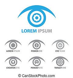 símbolo, jogo, olho, ícone