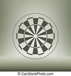símbolo, junta dardo, ícone