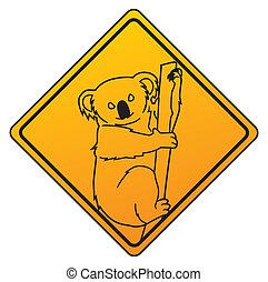 símbolo, koala
