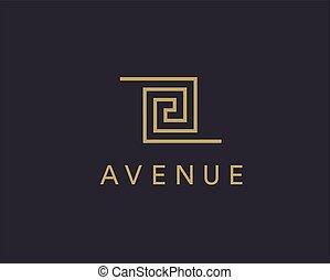 símbolo, logotype, icon., empresa / negocio, lujo