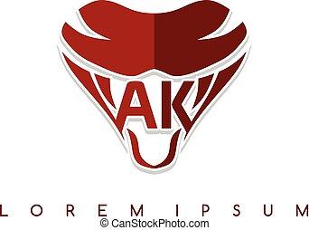 símbolo, logotype, señal, serpiente, plantilla, logotipo, ...