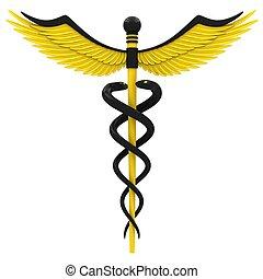símbolo, médico, caduceo