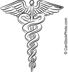 símbolo médico, ilustración