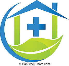 símbolo médico, natureza, negócio, logotipo