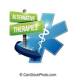 símbolo médico, terapias alternativas