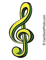 símbolo música