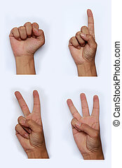 símbolo., mano