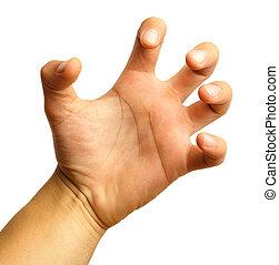 símbolo, mano