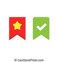 símbolo, marca, diseño, rojo, vector, elemento, color, ...