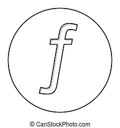 símbolo moneda, florín, icono