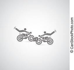 símbolo, motocicleta