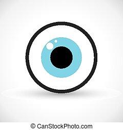 símbolo, ojo, icono