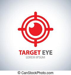 símbolo, olho, alvo, ícone