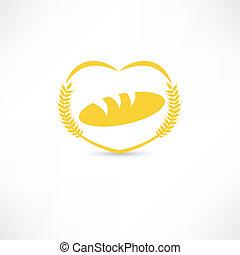 símbolo, pão, ícone