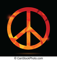 símbolo, pacifista