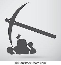 símbolo, pala, pico