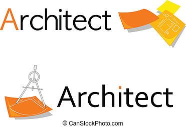 símbolo, para, arquiteta