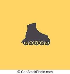 símbolo, patim, icon., patins rolo