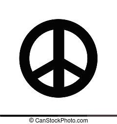 símbolo, paz, diseño, ilustración, icono