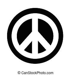 símbolo, paz, hippie, ícone