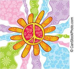 símbolo, paz, hippie