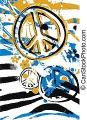 símbolo, paz, ilustração, sinal