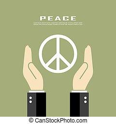 símbolo, paz, pacifism