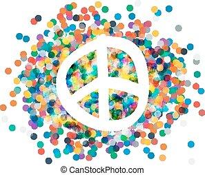 símbolo, peace.