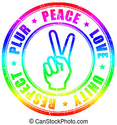símbolo, plur, hippy