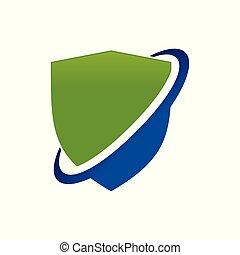 símbolo, proteção, desenho, escudo
