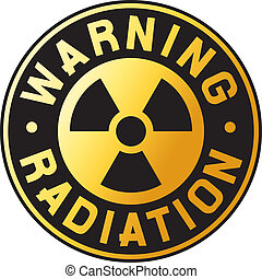 símbolo, radiación