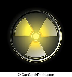 símbolo, radioactivo