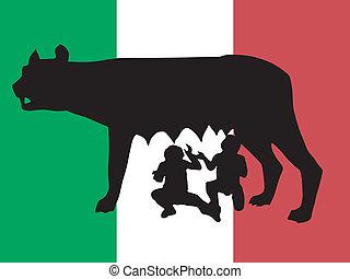 símbolo, roma, silueta
