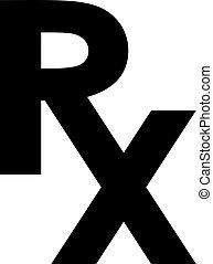 símbolo, rx, farmacia