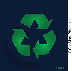 símbolo, símbolo., embalagem, vetorial, recicle, illustrat