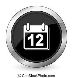 símbolo, señal, negro, agenda, organizador, calendario,...