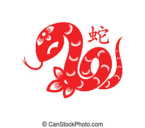 símbolo, serpiente, lunar
