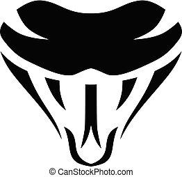 símbolo, serpiente, plantilla, logotype, logotipo, señal, icono