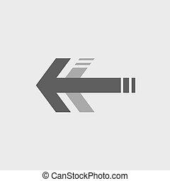 símbolo, seta