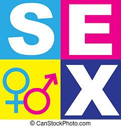 símbolo, sexo