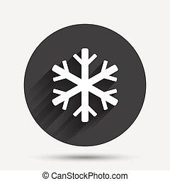 símbolo., sinal, condicionamento, icon., ar, snowflake