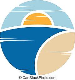 símbolo, sinal praia