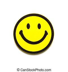 símbolo, smiley, amarela