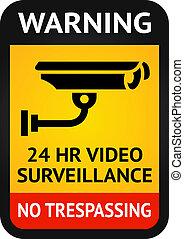 símbolo, surveillance video