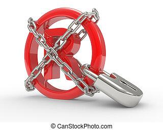 símbolo típico, cadenas, 3d