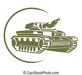 símbolo, tanque