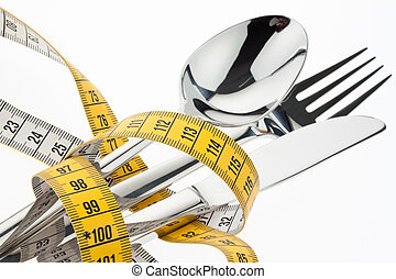 símbolo, tape., cubiertos, diet.