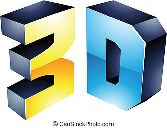 símbolo, tecnologia, exposição, 3d