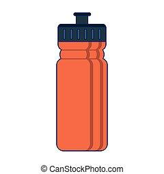 símbolo, thermo, botella