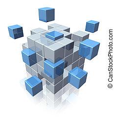 símbolo, trabajo en equipo, empresa / negocio, cooperación